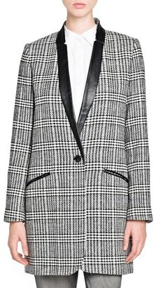 MANGO Outlet Prince Of Wales Wool-Blend Coat