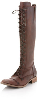 Charles David Regiment Lace-Up Boot, Brown