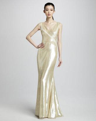 J. Mendel Panne Velvet Gown