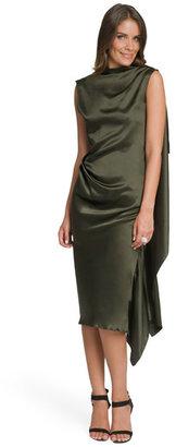 Roksanda Ilincic Olive Drape Back Dress