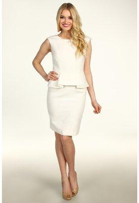 Calvin Klein Peplum Dress (Ivory) - Apparel