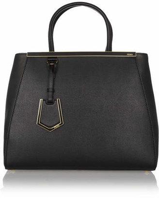 Fendi - 2jours Medium Textured-leather Shopper - Black $2,260 thestylecure.com