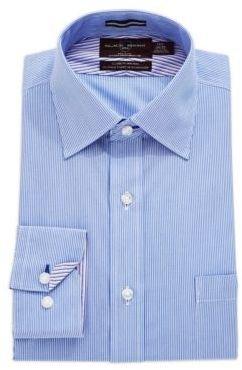 Black Brown 1826 LT) Striped Sport Shirt