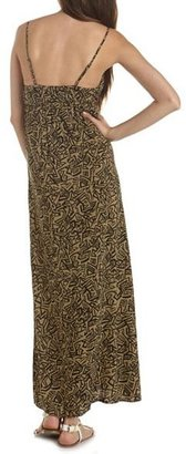 Charlotte Russe Printed Surplice Maxi Dress