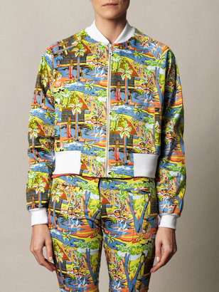 Anna & Boy Aloha tropical print bomber jacket
