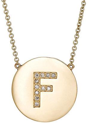 Jennifer Meyer Women's Initial Pendant Necklace