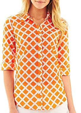 JCPenney jcpTM Button-Front Shirt