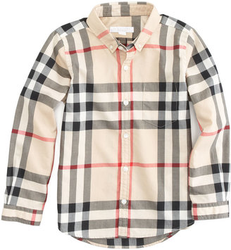 Burberry Long Sleeve Patch Pocket Check Shirt, Sizes 4Y-14Y