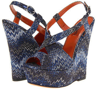 Missoni Iridescent Flame Stitch Wedge Sandal