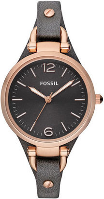 Women's Fossil 'Georgia' Leather Strap Watch, 32Mm $105 thestylecure.com
