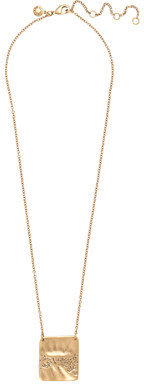 J.Crew Hammered charm necklace