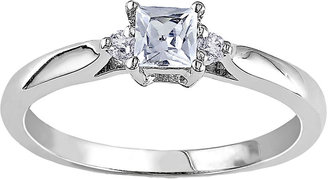 MODERN BRIDE Lab-Created White Sapphire & Diamond-Accent Engagement Ring