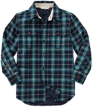 Gap Quilted plaid shirt jacket