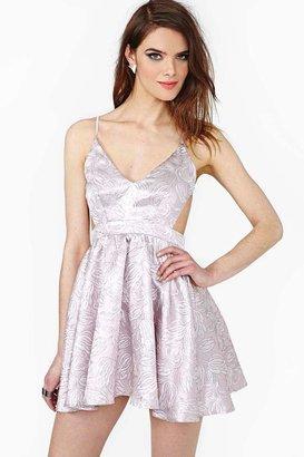 Nasty Gal Metallic Bloom Dress