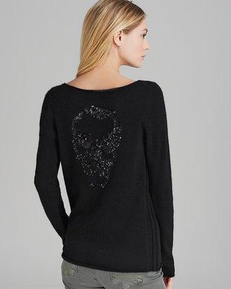 Tabitha 360 Sweater Bling Skull Back Cashmere