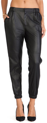 Thakoon Perforated Leather Joggers