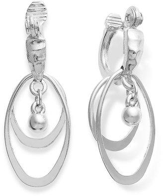 Charter Club Silver-Tone Triple Drop Hoop Earrings
