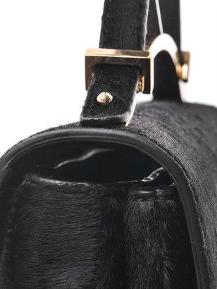 Marni Gold bar calf hair bag