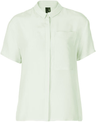 Topshop Silk Neat Shirt By Boutique