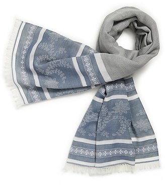 Tory Burch Oxford Woven Floral Scarf