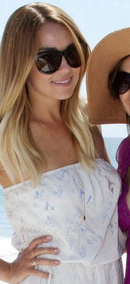 Jennifer Zeuner Jewelry Eye/Hand Lariat Necklace with Diamond and Sapphire - as seen on Lauren Conrad -