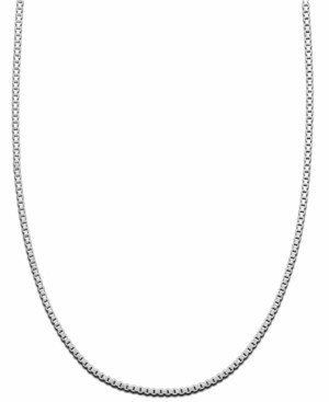"Giani Bernini Sterling Silver Necklace, 16"" Box Chain"