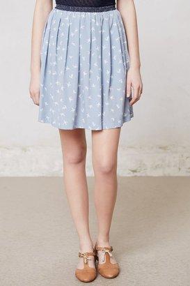 Anthropologie Pattern-Merge Mini Skirt