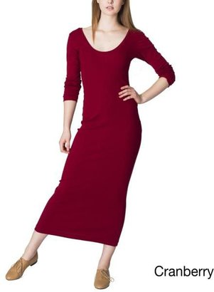 American Apparel Women's Baby Ribbed Long Dress $25.99 thestylecure.com