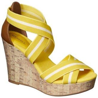Merona Women's Emilia Nautical Tall Wedge Sandal - Yellow