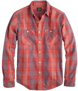 J.Crew Flannel shirt in persimmon plaid