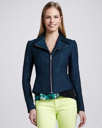 T Tahari Althea Zip-Front Jacket