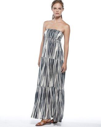 Velvet by Graham & Spencer Dress - Key West Print Strapless Maxi
