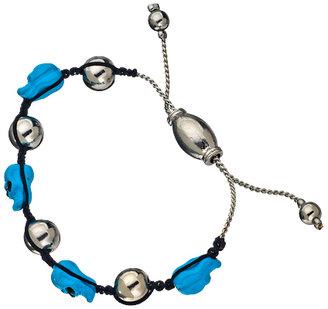 Blu Bijoux Neon Skull Shamballa Bracelet