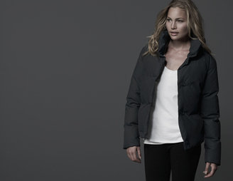 James Perse Funnel Neck Puffer Jacket
