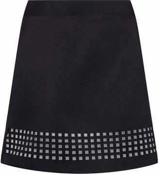 Topshop Lazer cut satin skirt