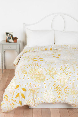 Urban Outfitters Plum & Bow Sketch Floral Duvet Cover