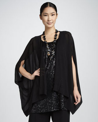 Eileen Fisher Silk Georgette Jacket