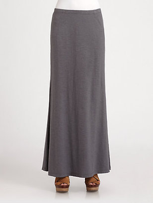 Eileen Fisher Slub Silk & Cotton Maxi Skirt
