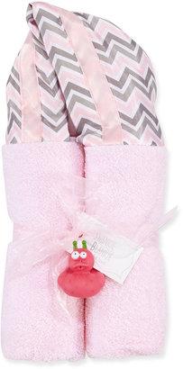 Swankie Blankie Swnkie Blnkie Chevron Hooded Towel, Pink