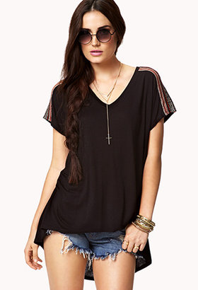 Forever 21 Tribal-Style High-Low Top