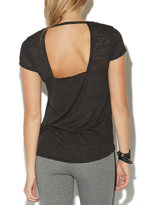 Wet Seal Burnout Open Back Tee by Rampage