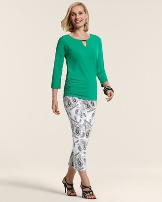 Chico's So Slimming By Paisley Print Crop