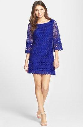 Laundry by Shelli Segal Mixed Venice Lace Shift Dress