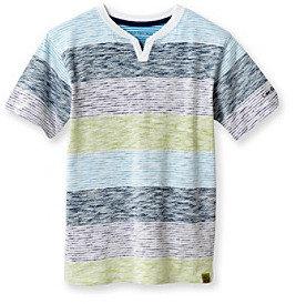 Calvin Klein Jeans Boys' 8-20 White Short Sleeve Stripe Tee