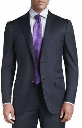 Ermenegildo Zegna Tic Woven Two-Button Suit, Navy $2,695 thestylecure.com