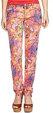 JCPenney a.n.a® Floral Print Skinny Jeans