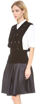 Thakoon Beaded Knit Vest