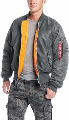 Alpha Industries Men's MA-1 Flight Bomber Jacket $124 thestylecure.com