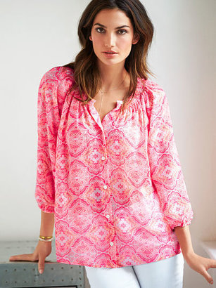 Victoria's Secret Smocked Blouse