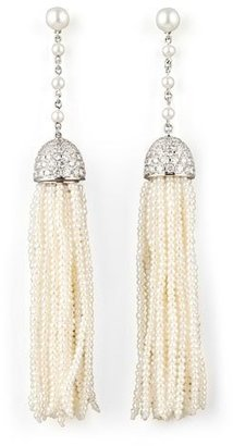 Ivanka Trump Seed Pearl and Diamond Tassel Earrings $12,500 thestylecure.com